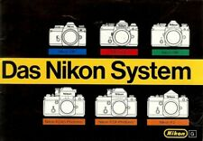 "Broschüre Prospekt Nikon ""Das Nikon System"" German language"