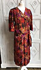 Vintage Maggy London New York Dress - 1980s 100% Silk