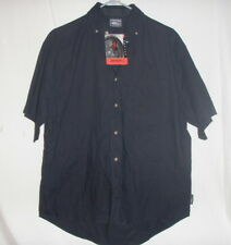 No Fear NWT Black Embroidered Button Casual Shirt, Size M Free Shipping! MX SX