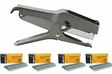 "Stanley Bostitch B8 Heavy Duty Plier Stapler (Gray) with 4 Boxes of 1/4"" Staples"