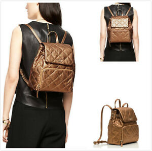 NEW Authentic Kate Spade Emerson Place Neko Antique Gold Leather Backpack $428
