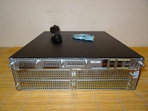 Cisco C3945E-VSEC/K9 Sec Router C3900-SPE250/K9 2GB RAM UC and Data License