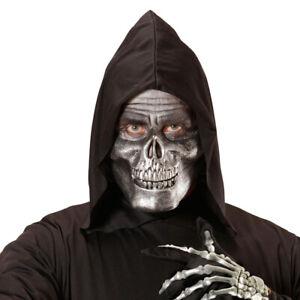 Tête de Mort Masque Horreur Demi-Masque Squelette Métallique Faucheuse D'Horreur
