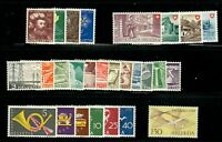 Switzerland 1949 Year Set (27 stamps) - MH