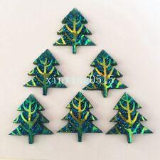 10pcs AB Resin shiny Christmas tree Flatback Rhinestone Wedding 2 hole buttons