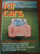 Kit Cars Sep 1982 UVA Montage, Marlin Roadster, Rhino