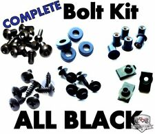 Complete Black Fairing Bolt Kit Body Screws for Kawasaki Ninja ZX-6R 2009-2012
