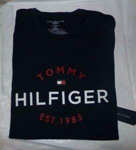 NWT MENS TOMMY HILFIGER S/S T-SHIRT~NAVY / RED~SZ XL