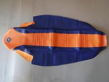 FLU ORANGE/BLUE PLEATED GRIPPER SEAT COVER TEAM KTM XCW XCWF EXC EXCF 2012-2016