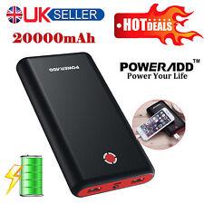 Poweradd 20000mAh Backup Battery Power Bank Dual USB Fast Portable Charger