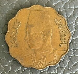 Egypt 1943 5 Milliemes Coin (bronze)