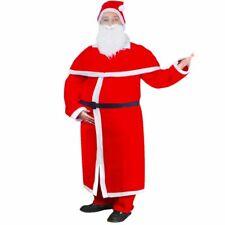 vidaXL Santa Claus Christmas Costume Robe Set Mens Father Fancy Dress Adult