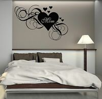 Wall Decal Mum Heart Love Mothers Day Family Decor Mom Vinyl Stickers (ig3068)