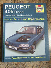 PEUGEOT 405 DIESEL 1988 ~ 1996 HAYNES SERVICE REPAIR MANUAL 3198