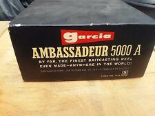 vintage Garcia Ambassadeur 5000 A empty display box leather case parts Look
