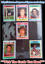 Type Cards: TOPPS Footballers EX cards blue back from  1-100 1976