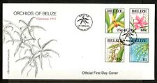 Belize, Scott cat. 1087-1090. Christmas issue showing Orchids. First day cover.