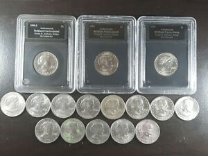1979 - 1999 $1 Susan B Anthony Dollar Coin Lot of 16 - 1979 D 1980 S 1980 D more