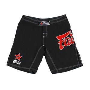 Fairtex Muay Thai Kickboxing MMA Fight Shorts AB1 All Sports Board Shorts Black