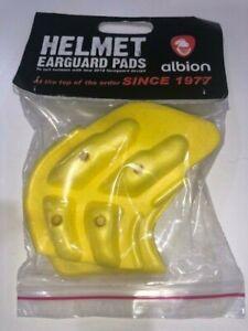 Cricket helmet earpad earguard ear guard pad protector yellow gold ALBION