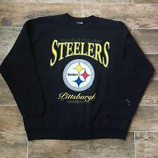 a1f43ceff VTG 1996 Pittsburgh Steelers Crewneck Sweatshirt Sweater Black Nutmeg XL  X-Large