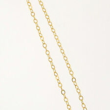 20 Inch 14k Gold Filled 1.6mm Flat-Round Cable Chain Necklace, Made in USA