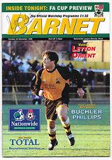 Barnet v Leyton Orient, 1996/97 - Autographed by Peter Shilton (Last Season).