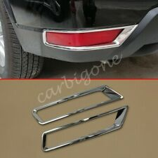Chrome Rear Fog Light Cover Mould Trims For Nissan Rogue 2017-2020 Accessories