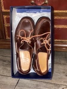 Sebago Docksides en cuir marron 41,5 NEUVES avec leurs boîte