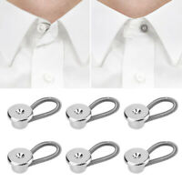 10PCs Collar Extension Button Pants Metal Extender Buckle Clothes Accessories