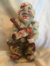 Collectible Vintage Hand-Painted Rodeo Clown With Rifle Figure