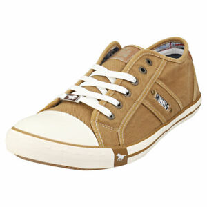 Mustang Lace Up Low Top Mens Khaki Fashion Trainers 8 UK