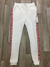 Men's Alpha Industries King Jogger Cuffed Skinny Fit Casual Gym White Size 2XL