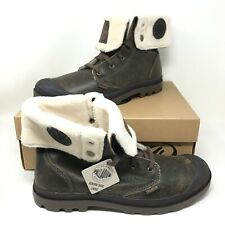 Palladium Men's Baggy Leather Lace-up Rootbeer Pilot Boots Size 13