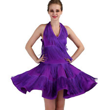 Latin Ballroom Competitio​n Dance Dress Modern Waltz Tango Standard Dress#FM343