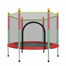 Round Indoor Mini Trampoline Child Playing Jumping Bed Exercise Enclosure Pad