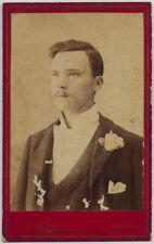 CDV Cefalù Ritratto di uomo Foto all'albumina Brocato 1880c S1429