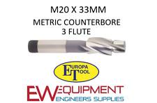 M20 X 33MM COUNTERBORE HSS 3 FLUTE EUROPA TOOL / CLARKSON 1512012000