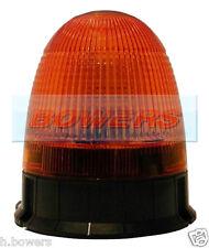12V/24V 3 BOLT/PIN MOUNT LED FLASHING AMBER/ORANGE BEACON LMB050 LAP ELECTRICAL