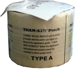 """Tear Aid Type A Repair Patch 3"""" X 60"""" also 4 waterbeds, rafts, etc. NEW"""