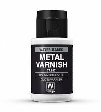 Vallejo Metal Colores-Aerógrafo Pintura-Brillo Metal Barniz 32ml - 77.657