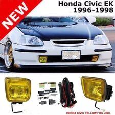 Honda Civic EK EJ 96-98 JDM SIR Front Bumper Yellow Winjet Fog Driving Light NEW