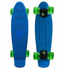 "Beautiful Aqua Blue / Ice Cube Style Green Wheels - 22"" Penny Style SkateBoard"