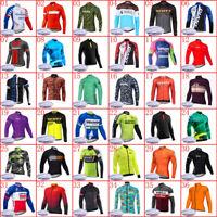 Men Winter Team Cycling thermal fleece Jersey bike long sleeve shirt bicycle Top