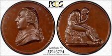 Great Britain Bronze MEDAL1858 Thomas Banks by L.C. Wyon PCGS UNC DET.Eimer-1523