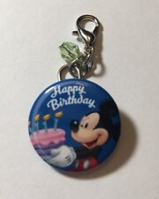 Disney Parks Charmed In The Park- Happy Birthday Button Charm