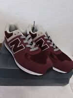 New Balance 574 Core Big Kid's Shoes Burgundy/Grey Size 4 M