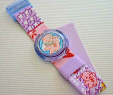 "SUPERBABY! Swatch ""FLYING BABY"" POP with Textile Leather Band! NIB-RARE!"