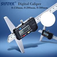 Syntek 150 /200 /300mm Depth Gauge Digital Caliper Step Measure Hook Vernier New