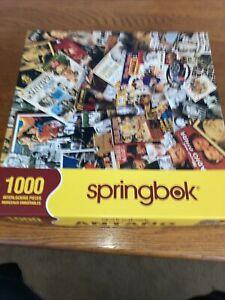 Springbok 1000 Piece Puzzle Yesteryear Nostalgia Movies TV Radio Excellent Cond